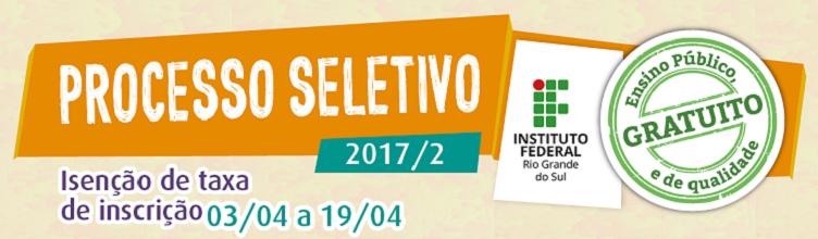 Processo Seletivo 2017/2