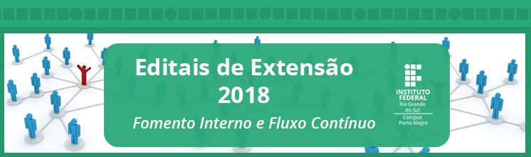 Editais de Extensão 2018 abertos